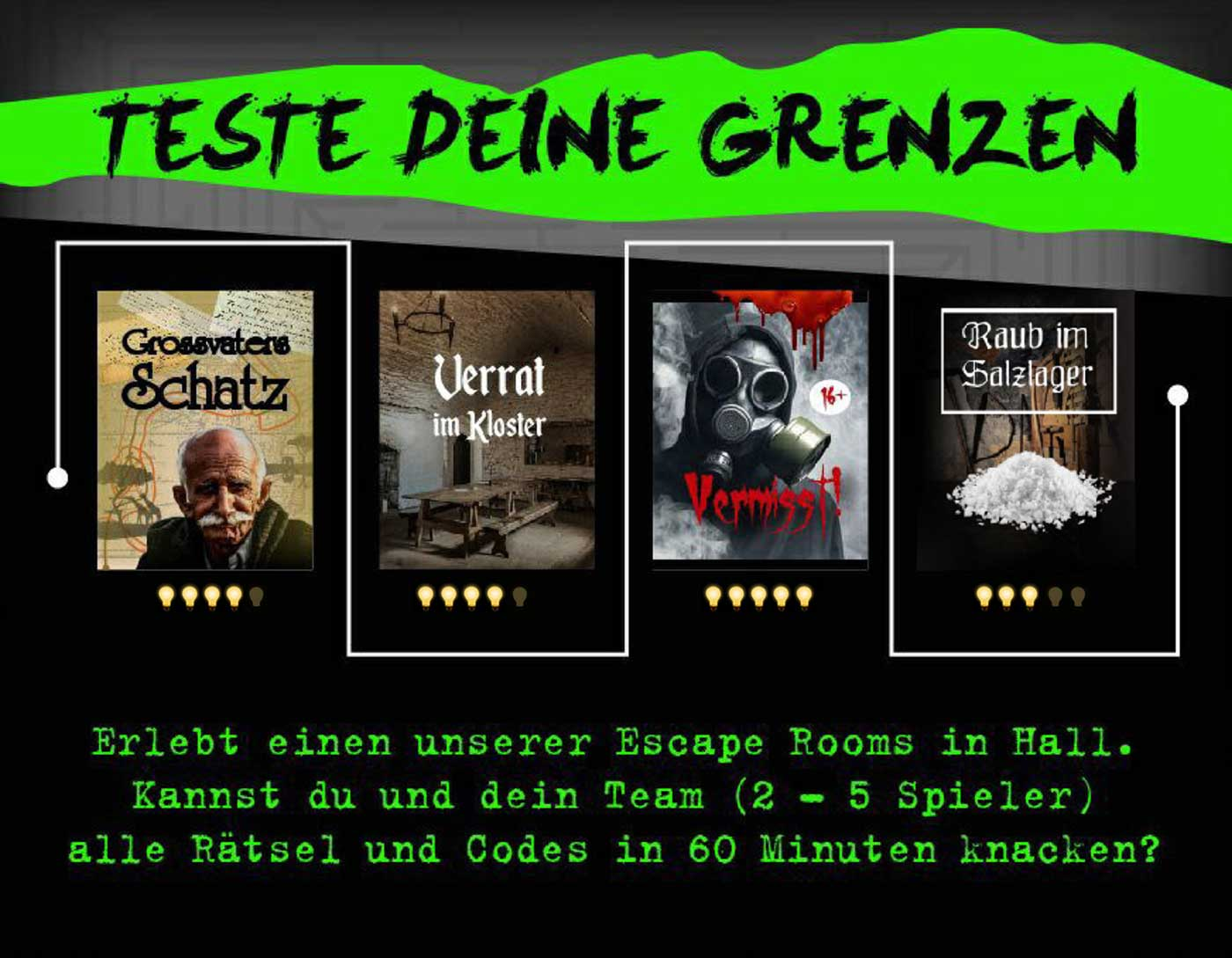 Escape Room Erlebnis in Hall in Tirol